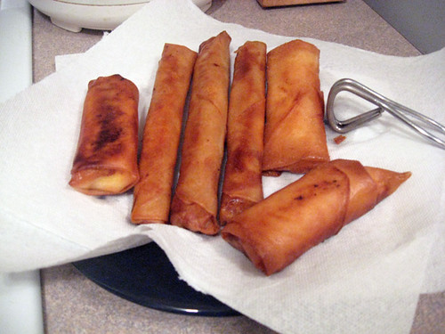 Cooking Lumpia and Turon