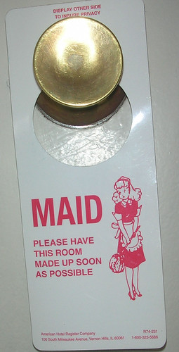 Maid Service Door Hanger by ATIS547.