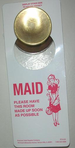Maid Service Door Hanger by ATIS547.