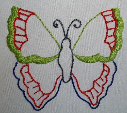 green orange blue butterfly