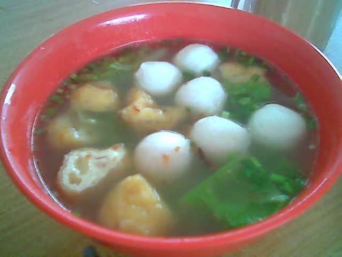 Rejang Park's fish ball soup