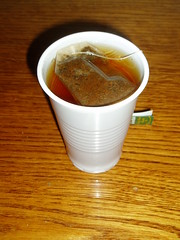 Cheap Russian Tea in Plastic Cup