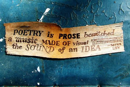 Mina Loy on poetry