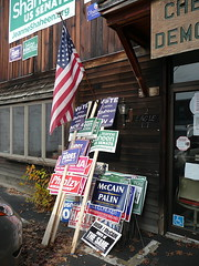 Discarded campaign signs