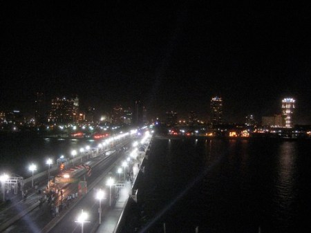 Evening walk in St Petersburg