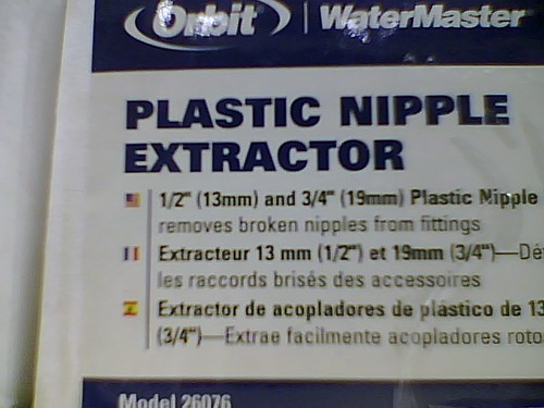 Plastic Nipple Extractor