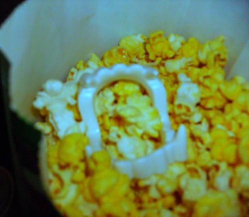 Teeth in the popcorn!