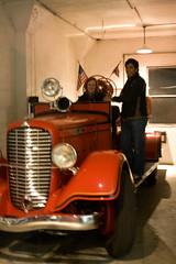 old school fire truck, Alcatraz Island