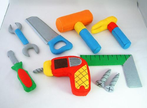 felt toys pattern,toolbox