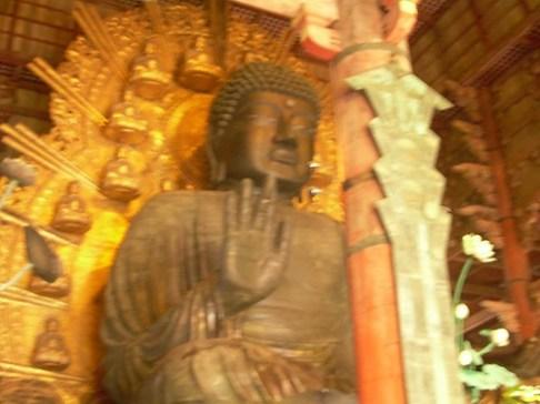 Daibutsu desenfocado en Nara