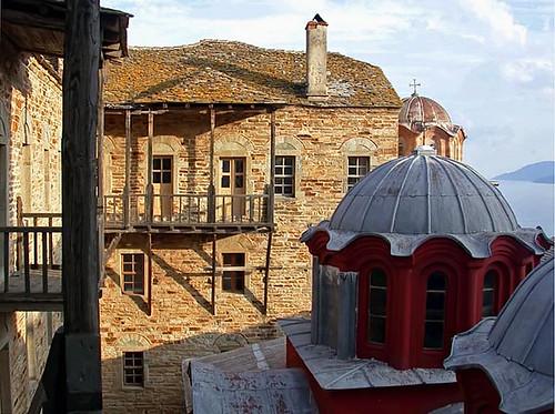 Domes at Stavroniketa Monastery
