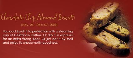 Chocolate Chip Almond Biscotti