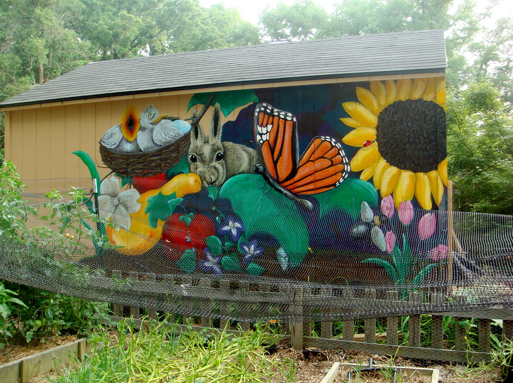 Awesome painting on the garden shed