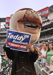 Washington Nationals racing president Teddy Roosevelt.