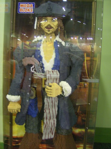Captain Jack Sparrow made of Mega Bloks