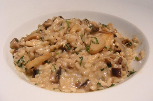 asian mushroom risotto, exactly like the recipe above