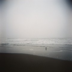 1f. Ocean Beach in fog with Holga Camera