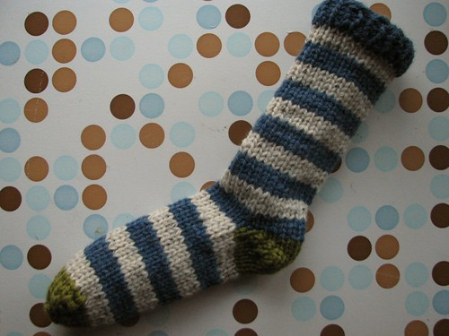 One sock complete