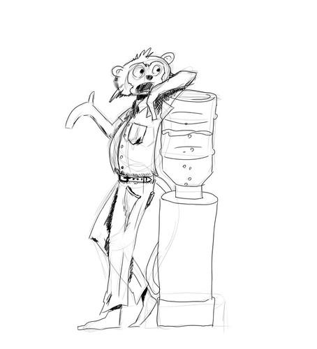 Cube Monkey Sketch
