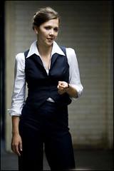 Talvez com esta roupa Harvey Dent pare de me assediar no escritório...