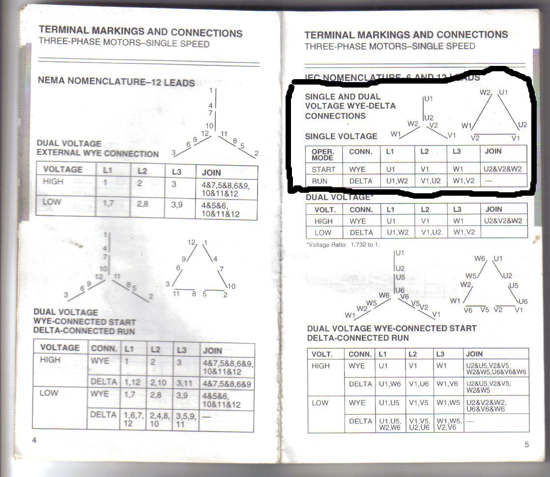 baldor 3 phase wiring diagrams