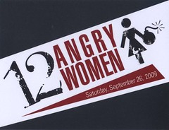 12 Angry Women (front of flyer)