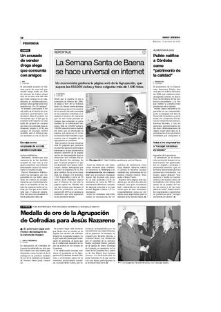 Reportaje en Diario Córdoba