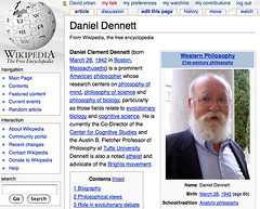 Daniel Dennett's wikipedia article