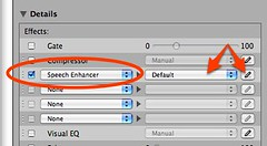Speech Enhancer effect setting