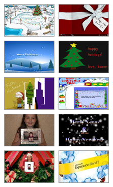 Snapshots of Silverlight Christmas Cards
