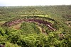 The Ajanta Caves from Above