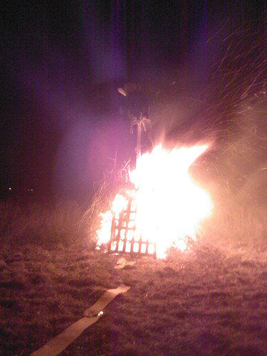 My dads bonfire and our guy!