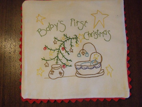 baby's christmas wall hanging FRONT