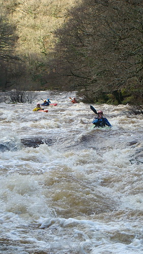 Heading into the Mad Mile on the Upper Dart