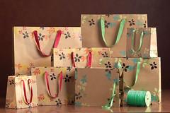Floral Print Paper Bags