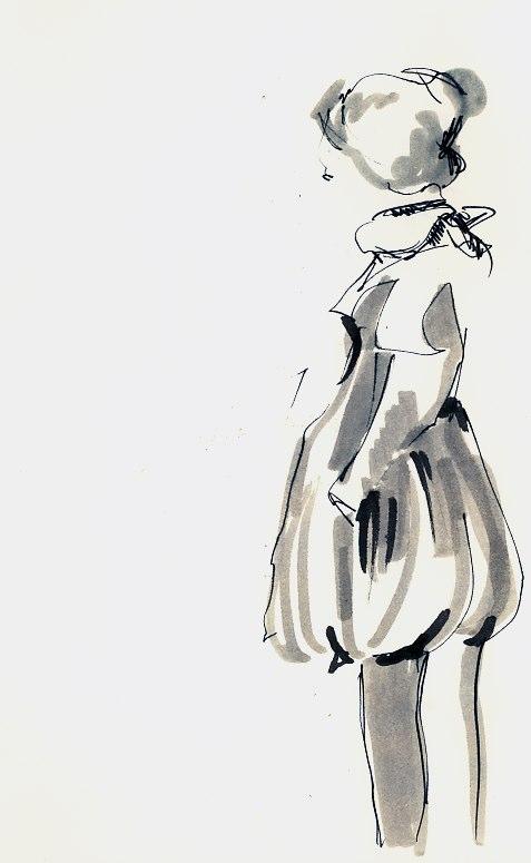 Flicka med ballongbyxor
