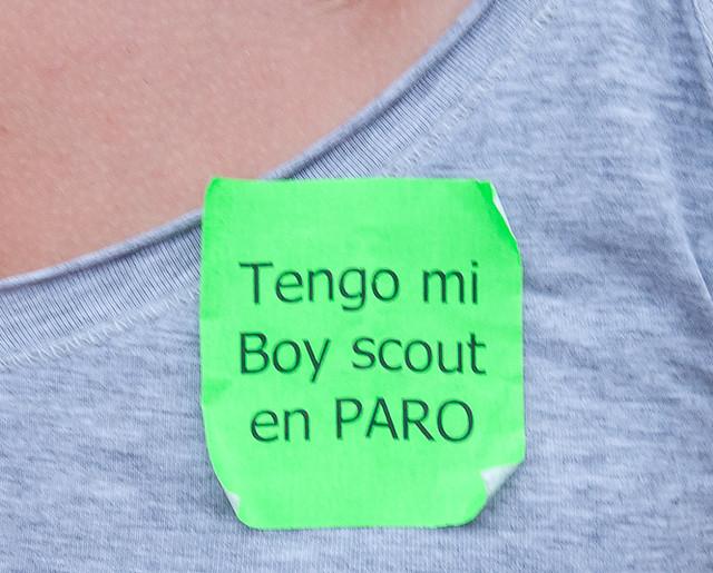 Tengo a mi Boy Scout en paro