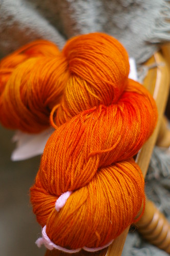 orange sock yarn
