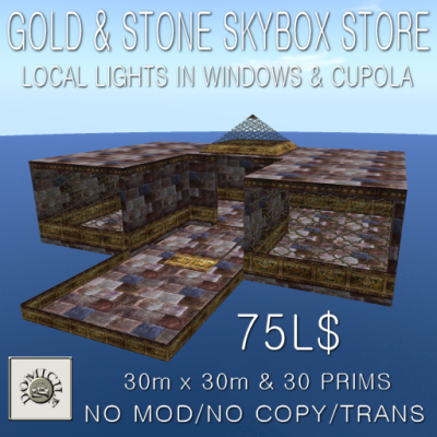 Domicile Gold and Stone Skybox Store