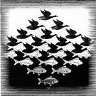 M. C. Escher. Cielo y aguaI. 1938.