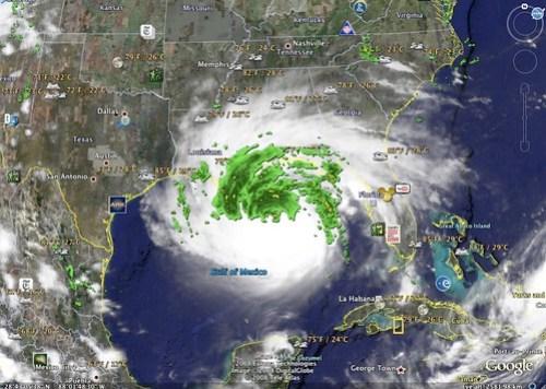 Gustav Google Earth Sep 1