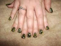 Nail Art Gallery: Jungle Nail Art Design