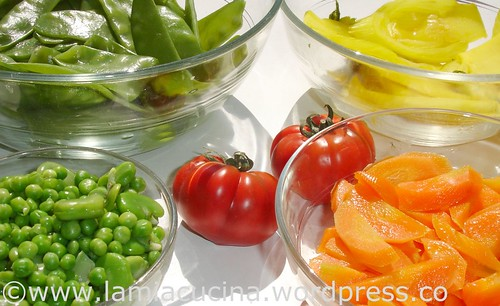Gemuesecurry. Stelldichein der gegarten Gemüse
