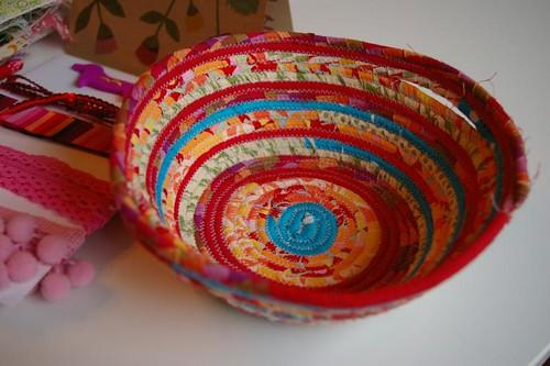 Fabric bowl! So cool!
