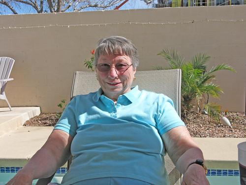 Sue soaks up some sun