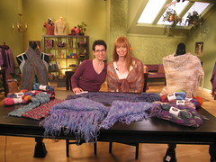Kim with Sela and Famous Shawls Ballet Lace Scarfs