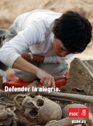 Cartel PSOE - Defender la alegria