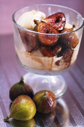 Fresh Fig Compote with Vanilla Ice Cream