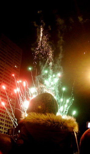 Fireworks coming out of a babies head by you.