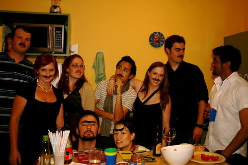 Group moustache shot